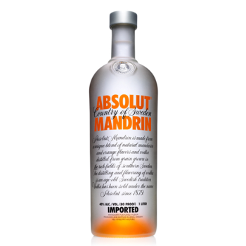 Absolut Mandarin Vodka 40% (1LT.)