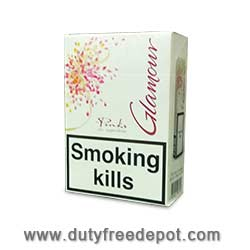 Glamour Pink Superslims Cigarettes (200 Cigarettes)
