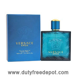 Versace Eros Eau De Toilette Spray  (100 ml./3.4 oz.)