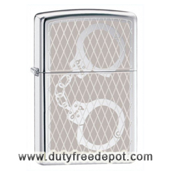 Zippo 28287 Classic High Polish Chrome Handcuffs Bling Windproof Pocket Lighter