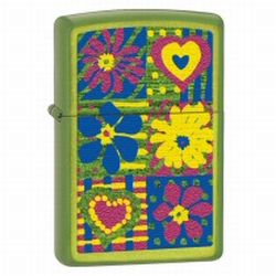 Zippo Hearts and Flowers Lurid Lighter (model: 28057)