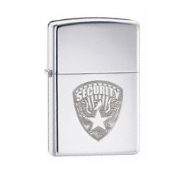 Zippo US Security High Polish Chrome Lighter (model: 24703)