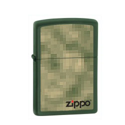 Zippo Unfocused Green Matte Lighter (model: 28036)
