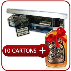 10 Cartons Of Lambert & Butler + Chivas Regal 12 Y.O. Whiskey 500 ml