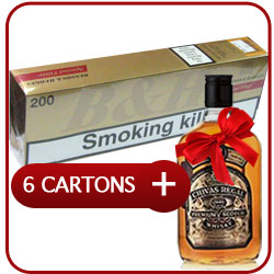 6 Cartons of Benson & Hedges Special Filter King Box + Chivas Regal 12 Y.O. 50CL