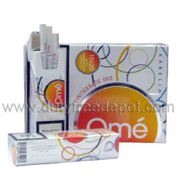 Karelia`s Omé Superslims Yellow Cigarettes (Tar 3 mg Nicotine 0.3 mg)
